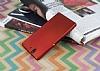 Sony Xperia Z Mat Kırmızı Silikon Kılıf - Resim 1