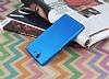Sony Xperia Z Mat Mavi Silikon Kılıf - Resim 1