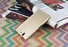Sony Xperia Z Mat Gold Silikon Kılıf - Resim 1