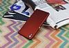 Sony Xperia Z2 Mat Kırmızı Silikon Kılıf - Resim 2