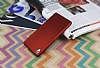 Sony Xperia Z3 Mat Kırmızı Silikon Kılıf - Resim 2
