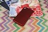 Sony Xperia Z3 Mat Kırmızı Silikon Kılıf - Resim 1