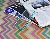 Eiroo Breza Sony Xperia Z3 Plus Mavi Metal Kenarlı Şeffaf Rubber Kılıf - Resim 2