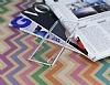 Eiroo Breza Sony Xperia Z3 Plus Silver Metal Kenarlı Şeffaf Rubber Kılıf - Resim 2