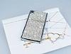 Eiroo Glows Sony Xperia Z3 Plus Taşlı Silver Rubber Kılıf - Resim 1