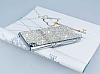 Eiroo Glows Sony Xperia Z3 Plus Taşlı Silver Rubber Kılıf - Resim 2