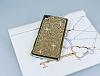 Eiroo Glows Sony Xperia Z3 Plus Taşlı Gold Rubber Kılıf - Resim 2