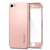 Spigen Air Fit 360 iPhone 7 / 8 Rose Gold Kılıf + 2x Tempered Glass Cam Koruyucu - Resim 1