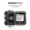 Spigen Apple Watch / Watch 2 Tough Armor Ultra Koruma Gunmetal Kılıf (42 mm) - Resim: 3