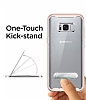 Spigen Crystal Hybrid Samsung Galaxy S8 Pembe Kılıf - Resim 1