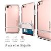 Spigen Flip Armor iPhone 7 / 8 Rose Gold Kılıf - Resim 4
