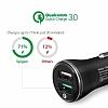 Spigen Hızlı Araç Şarj Cihazı Çift Girişli USB Qualcomm 3.0 - Resim 6