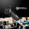 Spigen Hızlı Araç Şarj Cihazı Çift Girişli USB Qualcomm 3.0 - Resim 1