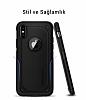 Spigen Hybrid Armor iPhone X Ultra Koruma Siyah Kılıf - Resim 3