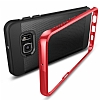 Spigen Neo Hybrid Carbon Samsung Galaxy S6 Edge Plus Kırmızı Kılıf - Resim 3