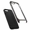 Spigen Neo Hybrid Herringbone iPhone 7 Plus / 8 Plus Gun Metal Kılıf - Resim 3