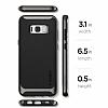 Spigen Neo Hybrid Samsung Galaxy S8 Plus Ultra Koruma Gunmetal Kılıf - Resim 7