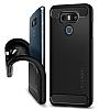 Spigen Rugged Armor LG G6 Siyah Silikon Kılıf - Resim 1