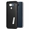 Spigen Slim Armor LG G6 Siyah Rubber Kılıf - Resim 1