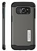 Spigen Slim Armor Samsung Galaxy S6 Edge Plus Gunmetal Kılıf - Resim 5