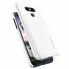 Spigen Thin Fit LG G6 Shimmery White Rubber Kılıf - Resim 4