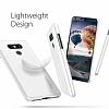 Spigen Thin Fit LG G6 Shimmery White Rubber Kılıf - Resim 2