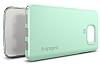 Spigen Thin Fit Samsung Galaxy Note 5 Yeşil Kılıf - Resim 6