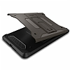 Spigen Tough Armor Military iPad Mini 4 Standlı Gunmetal Kılıf - Resim: 6