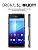 Spigen Ultra Hybrid Sony Xperia Z3 Plus Şeffaf Uzay Grisi Kılıf - Resim 4