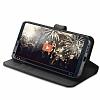 Spigen Wallet S LG G6 Standlı Kapaklı Siyah Deri Kılıf - Resim 3
