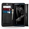 Spigen Wallet S LG G6 Standlı Kapaklı Siyah Deri Kılıf - Resim 5