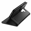 Spigen Wallet S LG G6 Standlı Kapaklı Siyah Deri Kılıf - Resim 2