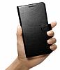 Spigen Wallet Samsung Galaxy Note 5 Standlı Kapaklı Siyah Deri Kılıf - Resim 3
