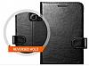 Spigen Wallet Samsung Galaxy Note 5 Standlı Kapaklı Siyah Deri Kılıf - Resim 5