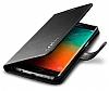 Spigen Wallet Samsung Galaxy S6 Edge Plus Standlı Kapaklı Siyah Deri Kılıf - Resim 5