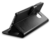 Spigen Wallet Samsung Galaxy S6 Edge Plus Standlı Kapaklı Siyah Deri Kılıf - Resim 6