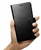 Spigen Wallet Samsung Galaxy S6 Edge Plus Standlı Kapaklı Siyah Deri Kılıf - Resim 2
