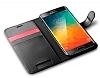 Spigen Wallet Samsung Galaxy S6 Edge Plus Standlı Kapaklı Siyah Deri Kılıf - Resim 4