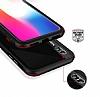 Dafoni Element Shield iPhone X / XS Standlı Ultra Koruma Deri Siyah Kılıf - Resim 3