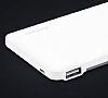 Totu Design 6000 mah Powerbank Dahili Micro USB Kablolu Beyaz Yedek Batarya - Resim 2