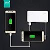 Totu Design 6000 mah Powerbank Dahili Micro USB Kablolu Beyaz Yedek Batarya - Resim 1