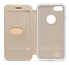 Totu Design Acme Series iPhone 7 / 8 Standlı Kapaklı Siyah Kılıf - Resim 4