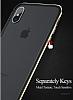 Totu Design Evoque Series iPhone X / XS Metal Bumper Çerçeve Dark Silver Kılıf - Resim 4