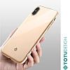 Totu Design Furios iPhone X / XS 3ü 1 Arada Gold Rubber Kılıf - Resim 4