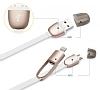 Totu Design Good Partner Lightning & Micro USB Dark Silver Data Kablosu - Resim: 9