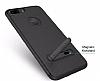 Totu Design iPhone 6 Plus / 6S Plus / 7 Plus Standlı Karbon Lacivert Silikon Kılıf - Resim 2