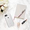 Totu Design iPhone 7 Kamera Korumalı Buzlu Beyaz Silikon Kılıf - Resim 1