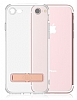Totu Design Keen iPhone 7 Plus / 8 Plus Standlı Rose Gold Silikon Kılıf - Resim: 8