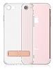 Totu Design Keen iPhone 7 Plus / 8 Plus Standlı Rose Gold Silikon Kılıf - Resim 8