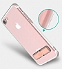 Totu Design Keen iPhone 7 Plus / 8 Plus Standlı Rose Gold Silikon Kılıf - Resim 5